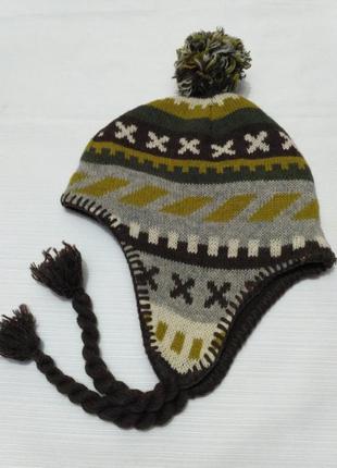 H&m шерстяная зимняя шапка на флисовом подкладе на возраст 6-8...