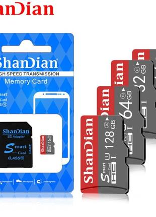 Высокоскоростная карта памяти micro SD 32gb 10 класс от ShanDi...