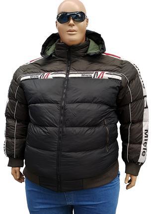 Большого размера зимняя мужская куртка на манжете