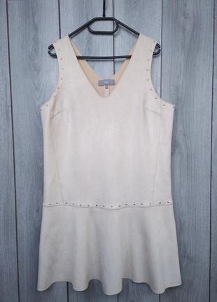 🔥акция 1+1=3🔥next шикарное платье бежевого цвета стильное под ...