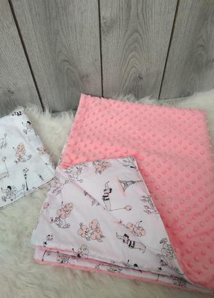 Новый minky минки плюш теплый с утеплителем плед конверт одеял...