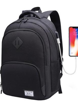 Практичный, черный, мужской рюкзак