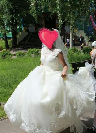 Свадебное платье. Фата в подарок!