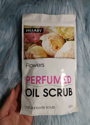 Скраб парфумований для тіла HiLLARY Perfumed Oil Scrub Flowers