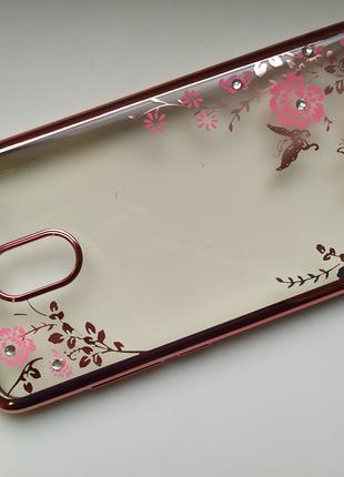 Чехол силиконовый со стразами Meizu M6