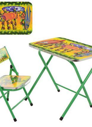Детский столик со стульчиком A19 Ninja, складной