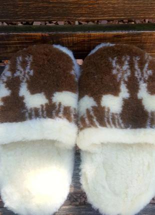 Тапочки из овчины на микропористой подошве, 36-46