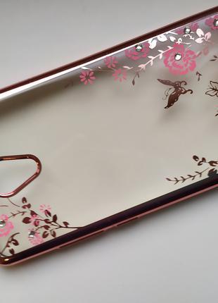 Чехол силиконовый со стразами Meizu M5C