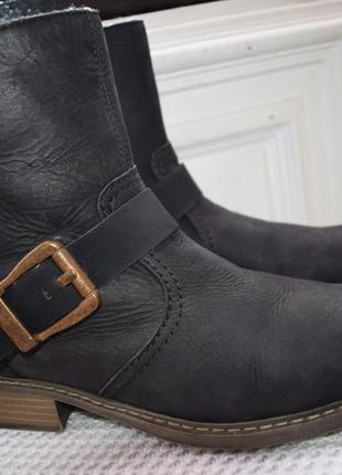 Кожаные зимние ботинки полусапоги rieker р.42 28 см