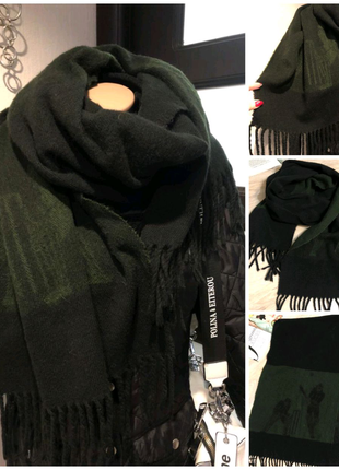 Мягусенький теплый широкой палантин шарф