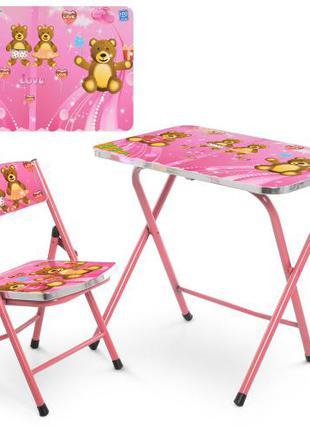 Детский столик со стульчиком A19 Bear, складной
