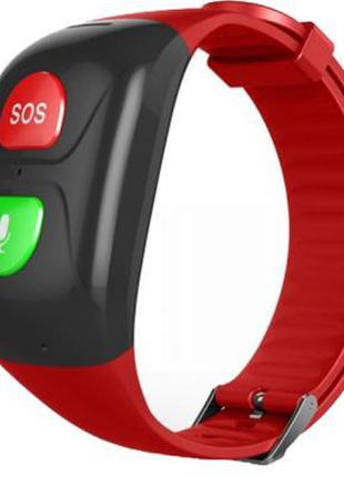 Смарт-часы GoGPS М03 кнопка SOS black/red (M03BKRD) 364065