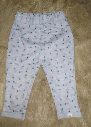Спортивные штанишки для маленькой модницы из эко-хлопка