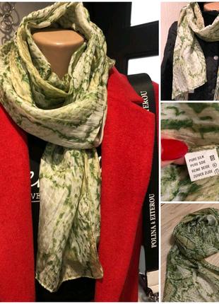 100% шелк тончайший лёгкий шарф платок палантин