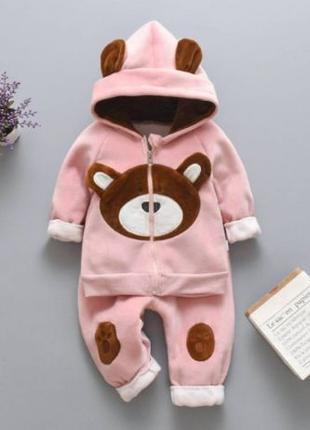 Теплый костюм Мишка для девочки