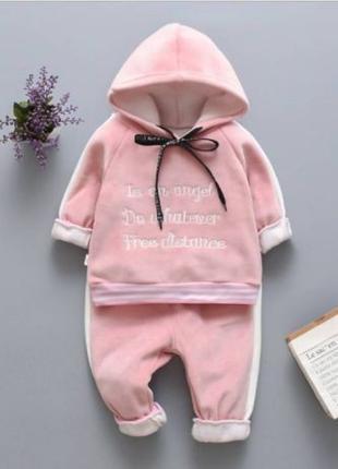 Теплый костюм Angel розовый