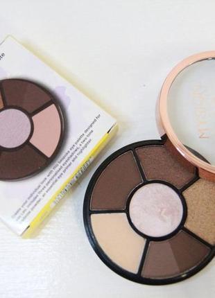 Палетка 4в1 для макияжа тени хайлайтер база тени для бровей ma...