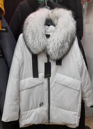 Куртка зимова із натуральним хутром