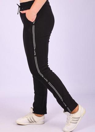Женские штаны с лампасами