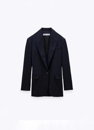 Пиджак оверсайз в тонкую полоску zara