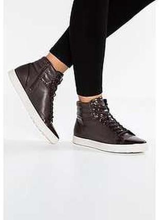 Кожаные высокие кеды, ботинки ecco gillian , оригинал