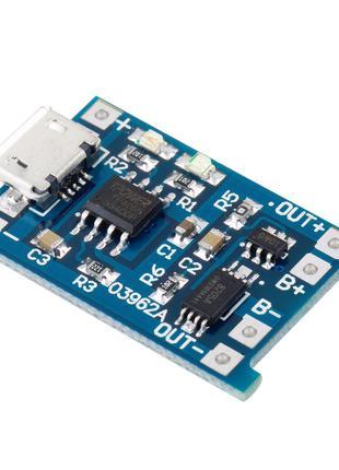 КОНТРОЛЛЕР заряда LI-ION И LI-POL аккум с защитой на TC4056