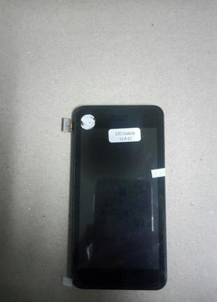 Дисплей для Nokia Lumia 530 с тачскрином и рамкой черного цвета