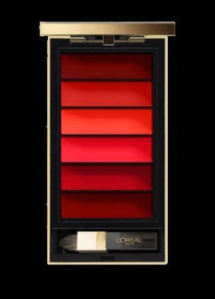 Палитра помад для губ (RED) L'Oreal Paris Colour Riche Lip Palett