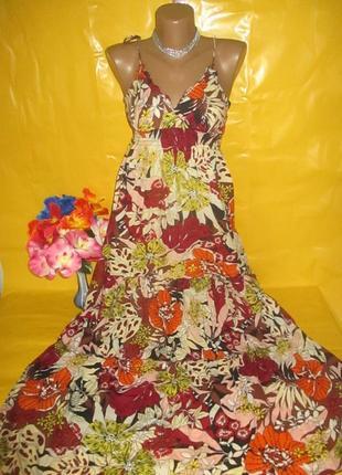 Очень красивое женское платье в пол  100% катон !!!!!!!!