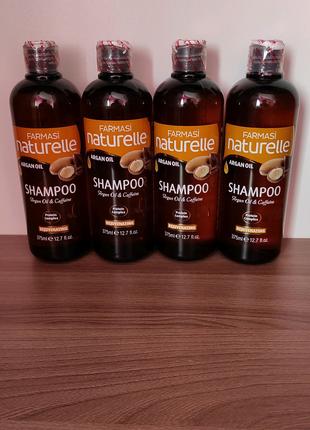 Распродажа Шампунь с аргановым маслом, кофеиномFarmasi Naturelle