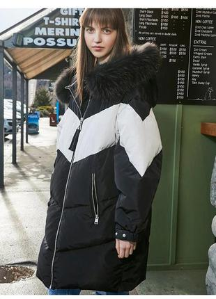 Пуховик оверсайз 🔥 зимняя пуховая куртка  кокон натуральный пу...