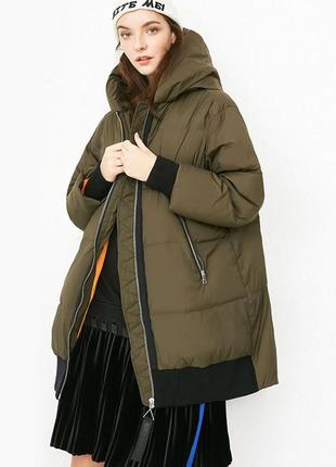 🔥стильный фирменный зимний пуховик  оверсайз 🔥 пуховая куртка ...
