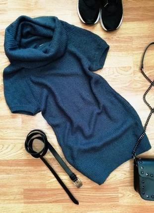 Женский вязаный мягкий уютный удлиненный жилет - безрукавка - ...
