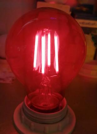 Лампа Эдисона 4W E27 красная, синяя, зеленая, желтая.