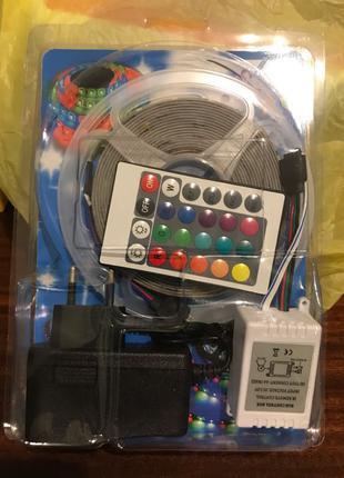 LED (светодиодная лента 5м) 3528 RGB комплект