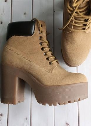 Черевики ботинки замш