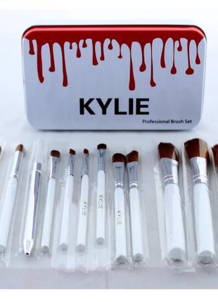 Кисточки для макияжа Kylie Cosmetics Make-up brush set White