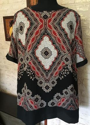 Блуза турецкий принт с лампасами