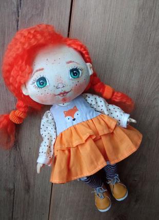 Кукла ручной роботи текстильная