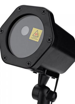 Уличный лазерный проектор новогодний 2 цвета 6 рисунков[Оригинал]