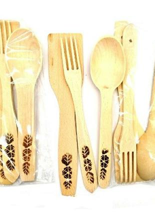 Набор деревянных столовых приборов 3шт