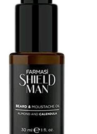 Масло для волос, бороды и усов Beard Moustache Oil Farmasi