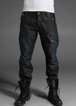 Джинсы от g-star raw, из плотного джинса