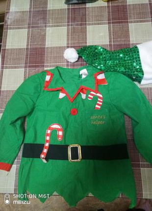 Новогодний костюм эльфа (помошник деда мороза)