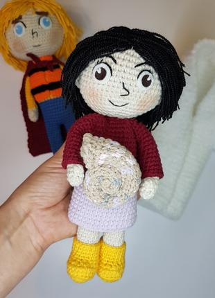 Вязаные куклы Бэн и его сестра Сирша