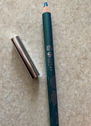 Бірюзовий олівець для очей, бирюзовый карандаш для глаз.