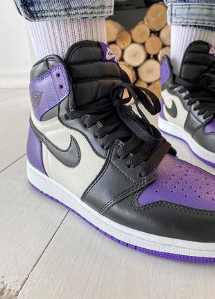 Кроссовки Nike Air Jordan 1 Retro High Violet Black