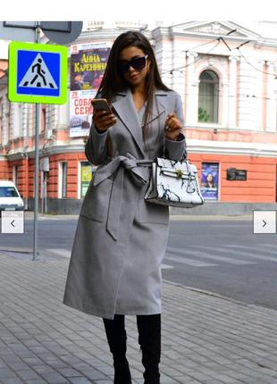 Женское кашемирове пальто