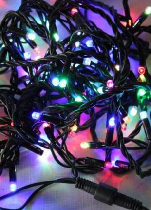 """Уличная LED гирлянда Нить """"String"""" 20 метров 200 Ламп черный п..."""