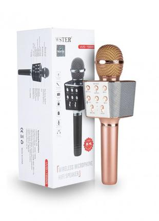 Караоке микрофон с Bluetooth беспроводной WSTER WS-1688